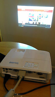 Benq Projector 720P TW523P 11 Hours use! Very bright and clear DLP HDMI