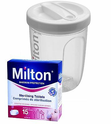 Milton Travel/Portable Cold Water/Microwave Bottle Steriliser Inc 28 Tablets