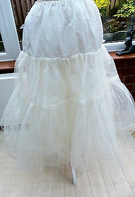 Ivory Double Layered Net Petticoat to support full wedding dress
