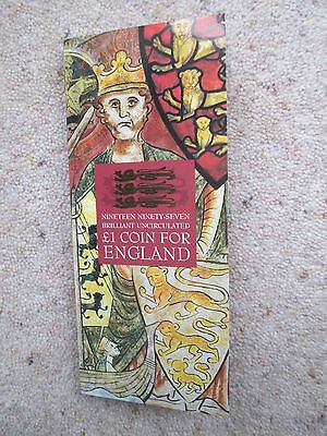 1997 Brilliant Uncirculated One Pound Coin For England £1 Unopened