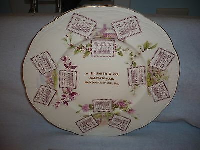 1906 CALENDAR PLATE smith and co. salfordville pa montgomery county