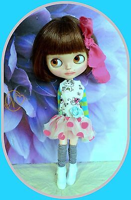 Cute Tutu dress for Blythe doll* boots* dress hanger* hairbow* socks* 5 pieces*