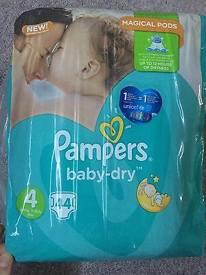 Pampers Baby Dry (extra Absorption) Size 4 Nappies FREE POSTAGE