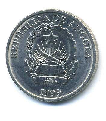 Angola 5 Kwanzas 1999 KM 99 aUNC Almost Uncirculated Coin