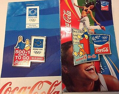 LOT of two Athens 2004 Olympics Coca Cola Pins (1)