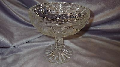 Vintage Cut Crystal footed Candy Dish Compote dish by Cambridge Glass co