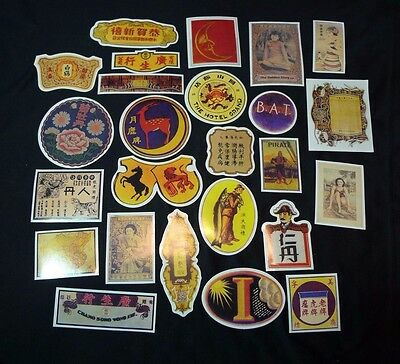 Lot of 25 Asian Express Travel Luggage Travel Decal Stickers