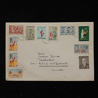 ZS-O001 TUNISIA IND - Cover, Great Franking To Switzerland 1971