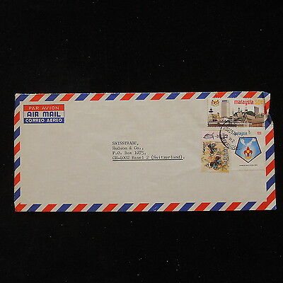 ZS-O033 MALAYSIA - Cover, Butterflies, Great Franking To Switzerland