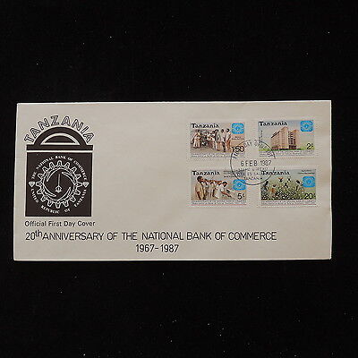 ZS-O050 TANZANIA - Fdc, 1987 20Th Anniversary Of Nationa Bank Of Commerce Cover