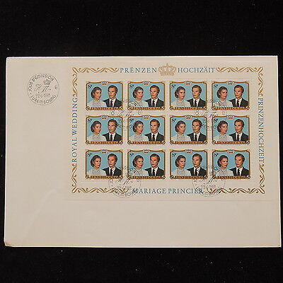 ZS-O113 LUXEMBOURG - Fdc, Sheet 1981 Wedding Cover