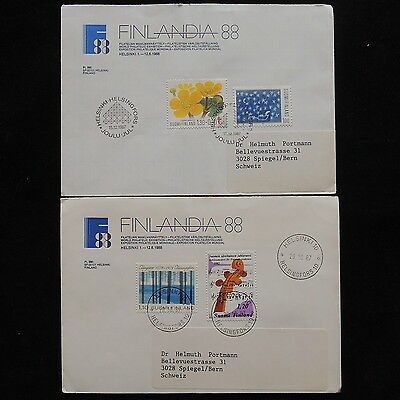 ZS-O144 FINLAND - Covers, Flowers, Music, Finlandia 1988