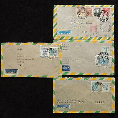 ZS-O205 BRAZIL - Covers, Great Franking Airmail 1947