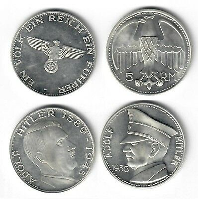 Germany Third Reich Set of 2 Fantasy Medals / Coins