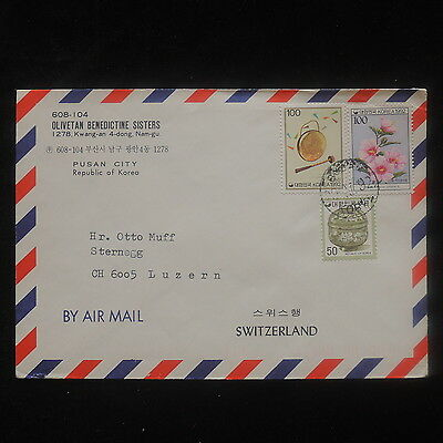 ZS-O750 S. KOREA - Cover, Flowers, Pottery Great Franking To Switzerland