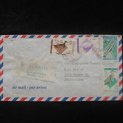 ZS-O925 URUGUAY - Birds, Fish Great Franking To Switzerland Cover