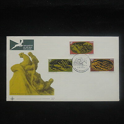 ZS-P222 SOUTH AFRICA IND - Sculptures, Paintings Coert Steynberg, Fdc 1973 Cover