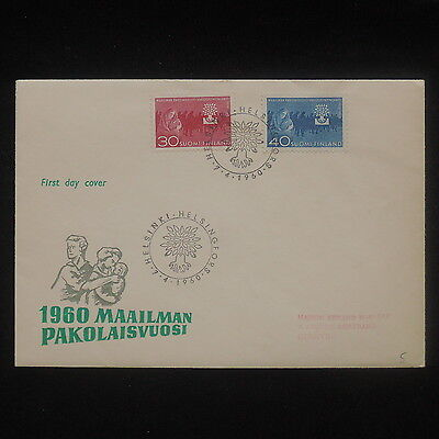 ZS-P261 FINLAND - Refugee Year, World 1960 Fdc Cover