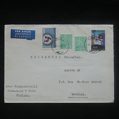 ZS-P268 FINLAND - Cover, 1969 Unicef, Metallurgical, Airmail To Switzerland