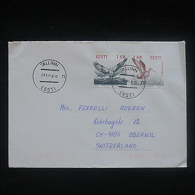 ZS-P435 ESTONIA - Birds, Tallin 1929 Great Franking To Switzerland Cover