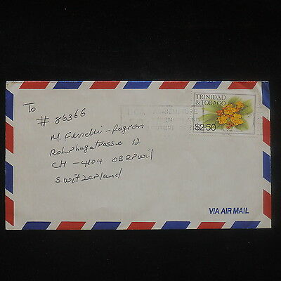 ZS-P481 TRINIDAD & TOBAGO IND - Flowers, Single Franking To Germany Cover