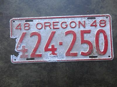 Oregon license plate  1948  424-250