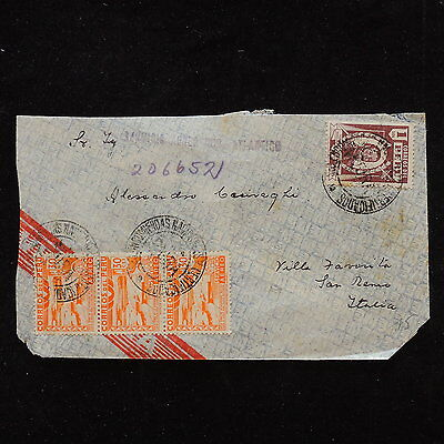 ZS-P833 PERU - Cover, Airmail To Italy San Remo