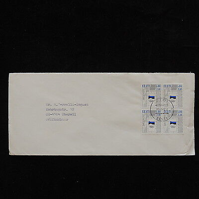 ZS-P987 OLYMPIC GAMES - Estonia, Barcellona Spain 1992 Block Of 4, 2010 Cover