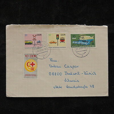 ZS-Q585 GERMANY/DDR - Red Cross, Great Franking 1969 To Switzerland Covers