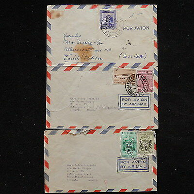 ZS-R058 VENEZUELA - Covers, Lot Of 3 Different To Switzerland