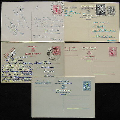 ZS-R193 BELGIUM - Entire, Lot Of 5 Different Postcards