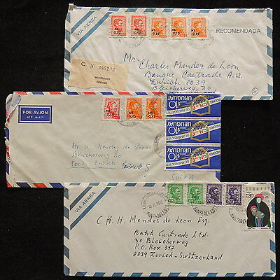 ZS-R320 URUGUAY - Covers, Lot Of 3 Air Mail To Switzerland