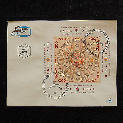 ZS-R817 ISRAEL - Sheet, 1957 Fdc, International Expo, Imperf. Sheet Cover