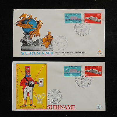 ZS-R830 SURINAME IND - Upu, 1970 Fdc, Great Franking Lot Of 2 Covers