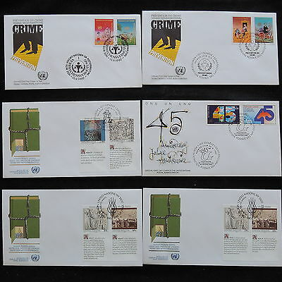 ZS-S017 UNITED NATIONS - Lot, 1990 Fdc, Human Rights, 45Th Anniversary Covers