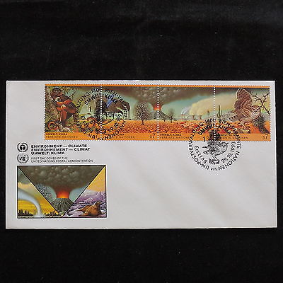 ZS-S038 UNITED NATIONS - Wild Animals, Fdc 1993, Strip, Monkey, Nature Cover