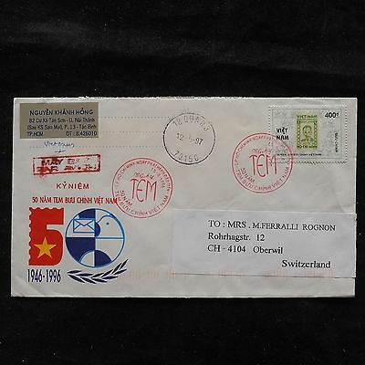 ZS-T607 VIETNAM - Cover, To Oberwil Switzerland