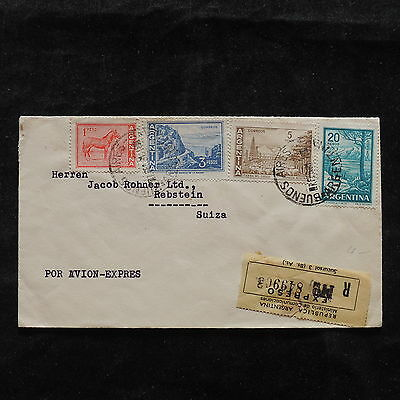 ZS-T886 ARGENTINA - Cover, Express Mail Airmail To Switzerland 1961