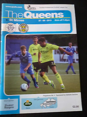 Queen Of The South V St Mirren 27/8/2013 League Cup