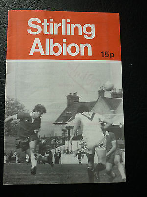 Stirling Albion V Brechin City League Cup 29/8/1979