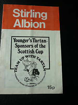 Stirling Albion V Clydebank 30/1/1980 Scottish Cup Replay