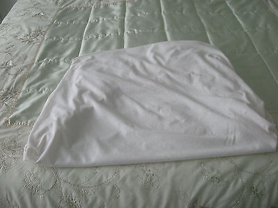 Cot Sheet Fitted White
