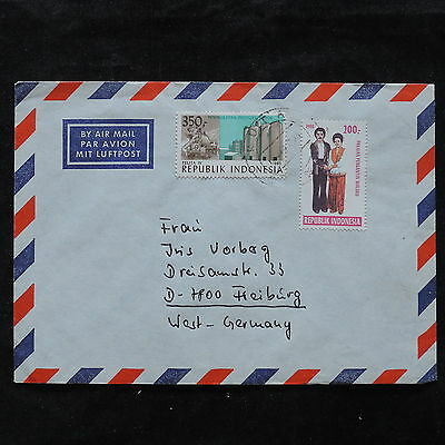 ZS-U426 INDONESIA - Cover, Costumes, Airmail To Germany Cover