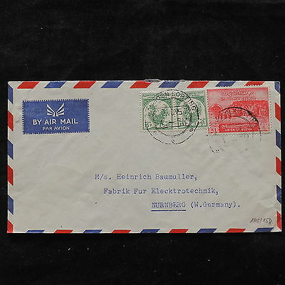 ZS-U458 BURMA IND - Cover, 1957 Airmail To Germany