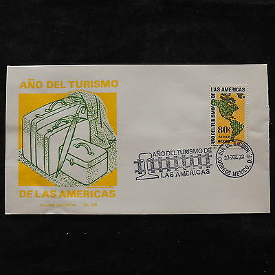ZS-U481 MEXICO - Fdc, 1972 Year Of The Tourism Las Americas Cover