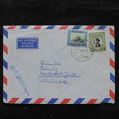 ZS-U512 JORDAN - Cover, 1966 Airmail To Germany Cover