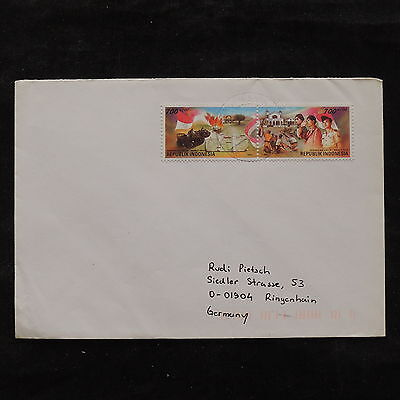 ZS-U515 INDONESIA - War, Paintings, Strip, Airmail To Germany Cover