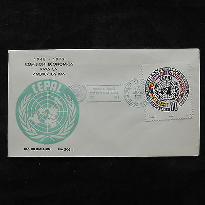 ZS-U546 MEXICO - Fdc, 1974 Cepal, Great Franking Cover
