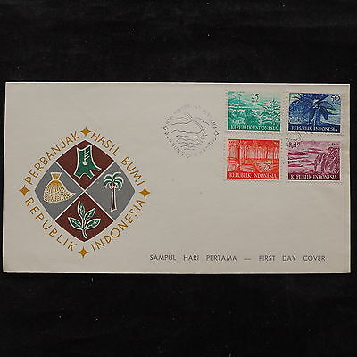 ZS-U638 INDONESIA - Landscapes, 1960 Fdc, Great Franking Cover