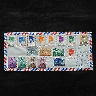 ZS-U709 INDONESIA - Airmail, Great Franking To Germany Cover